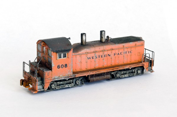 Western Pacific Railroad EMD NW2 N-scale