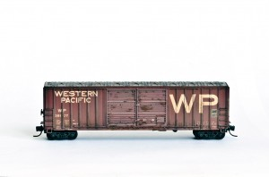 Western Pacific Railroad boxcar N-scale