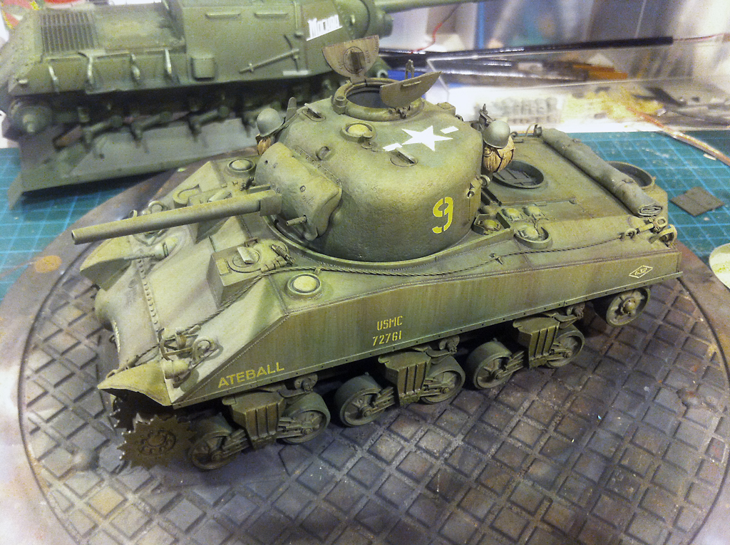 Sherman M4A2 with wading stacks dragon models 1/35 by Andreas Grewin