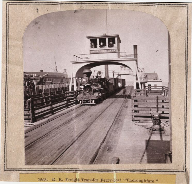 1568. R. R. Freight Transfer Ferry-boat, Thoroughfare. 1860 : 1870