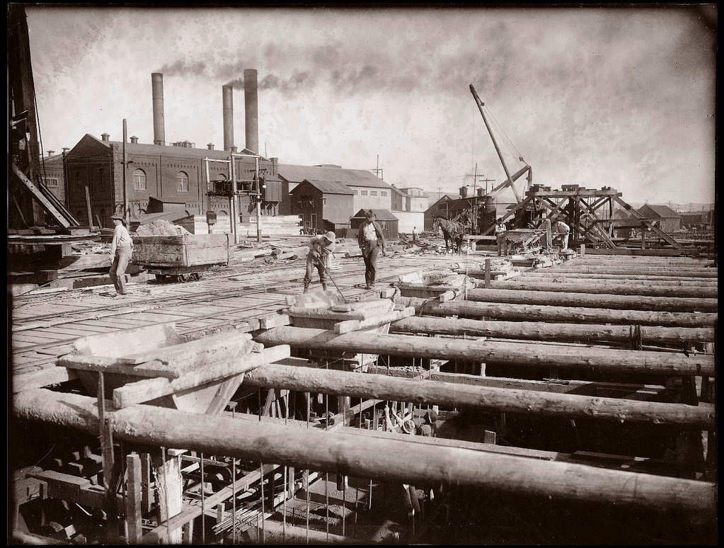 Wharf Construction, Port of Oakland c1910