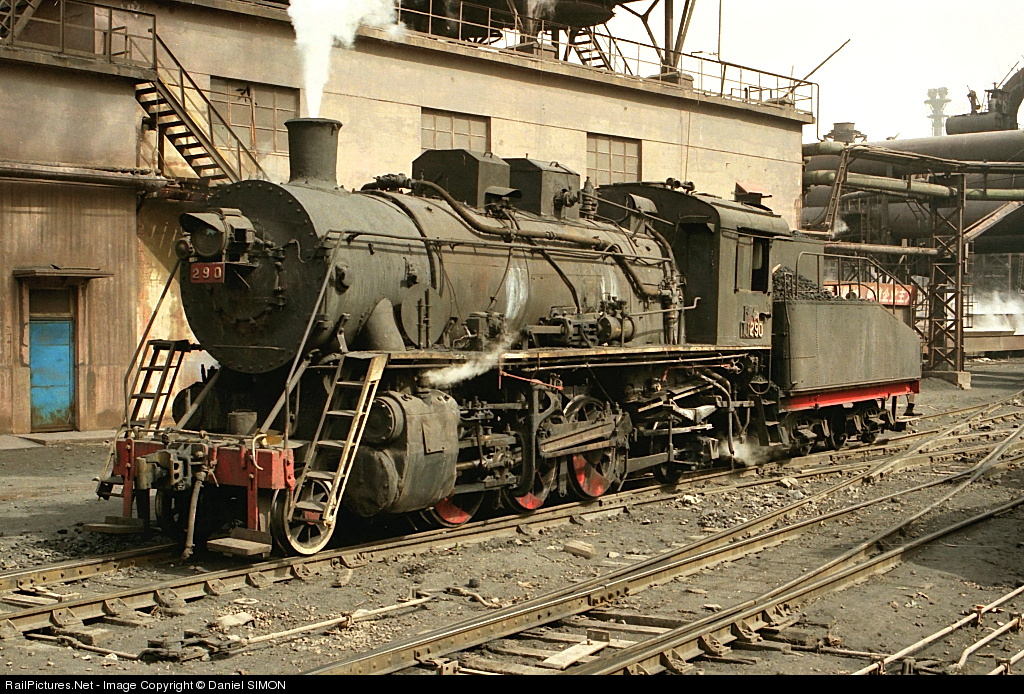 China Rail Steam Locomotive 2-8-2