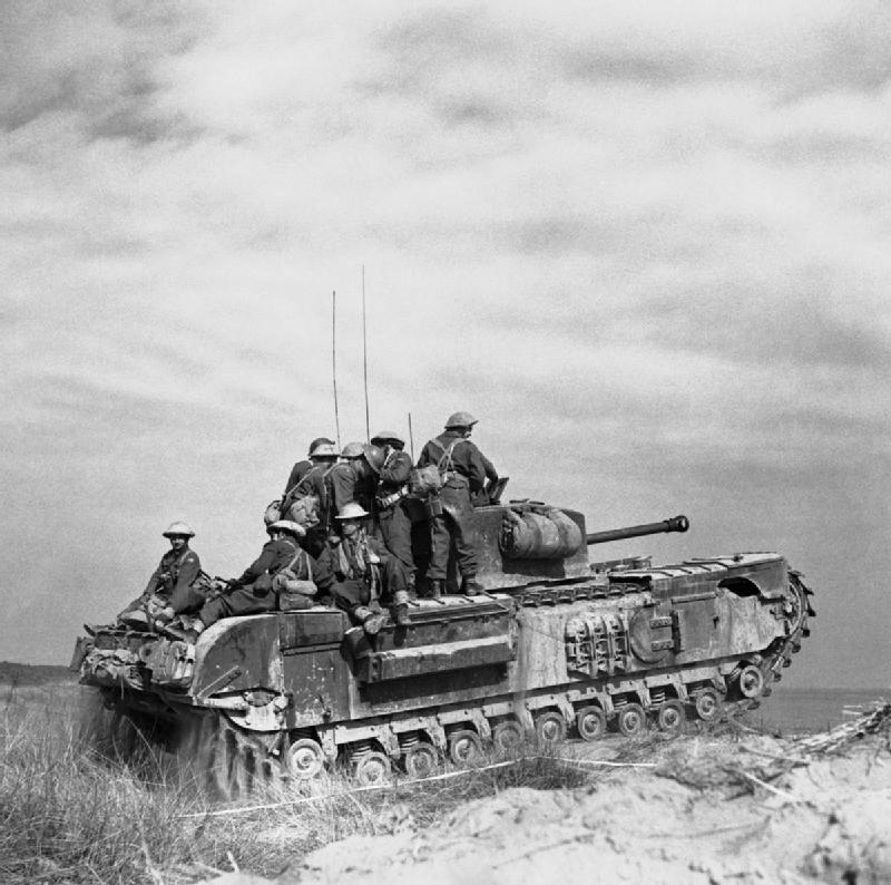 Churchill tank of 'C' Squadron.