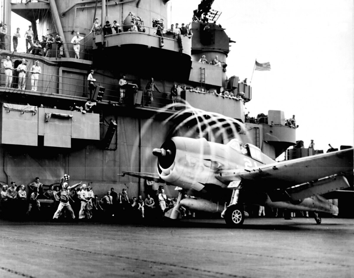 F6F Hellcat on USS Yorktown
