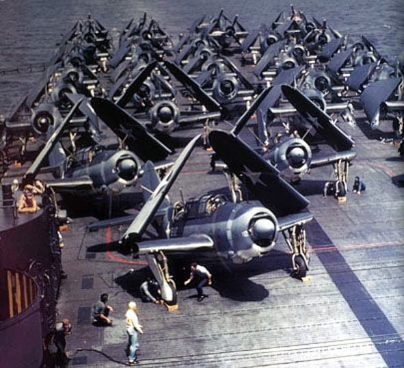 SB2Cs on USS Yorktown (CV-10) 1943