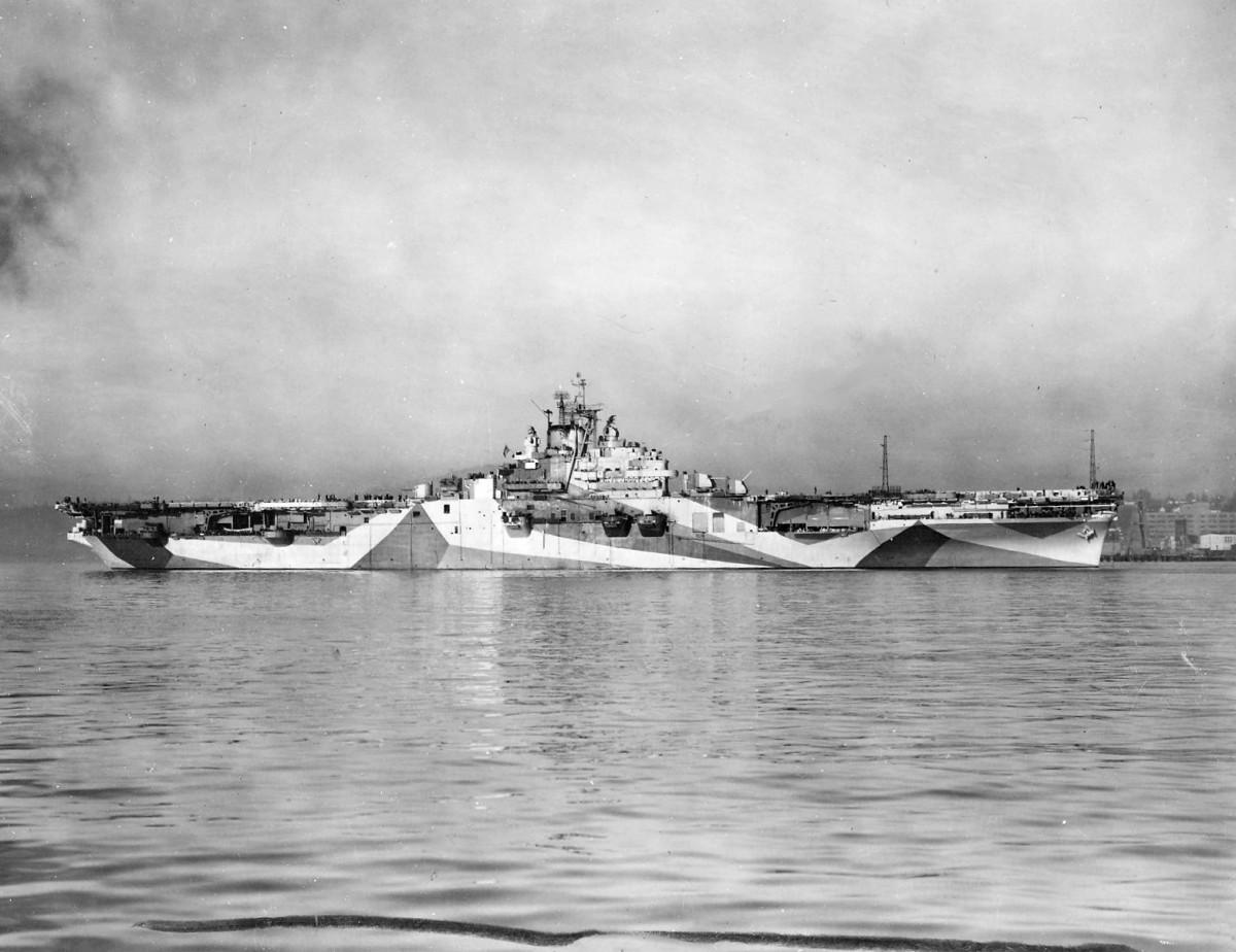 USS Yorktown (CV-10) at Puget Sound 1944