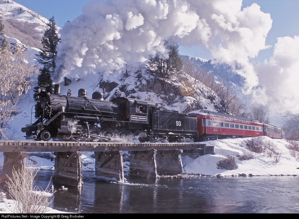 Nevada Northern Railway Steam 2-8-0 # NNRY 93 at Wildwood, Utah, USA