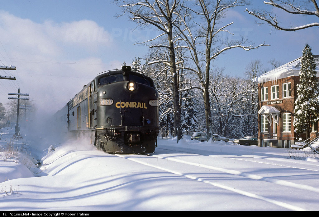 Conrail EMD E8(A) # CR 4020 at Glen Summit, Pennsylvania, USA