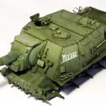 ISU-152 painting in progress