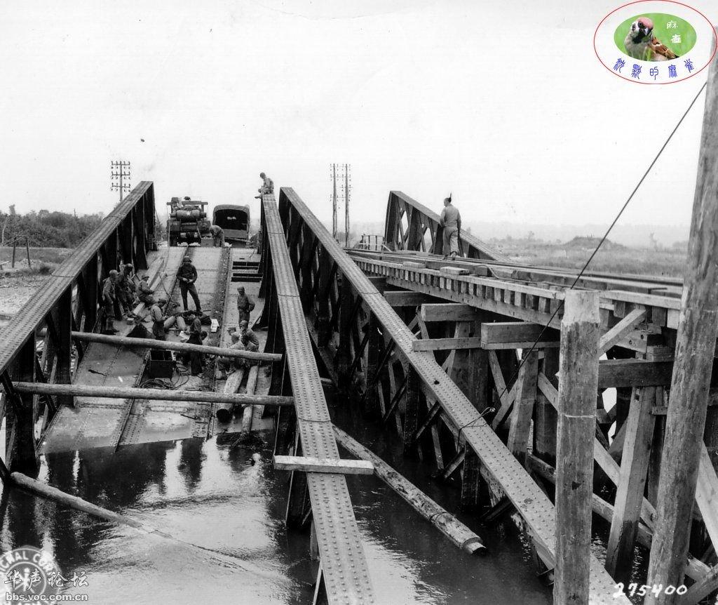 Bombed bridge world war II