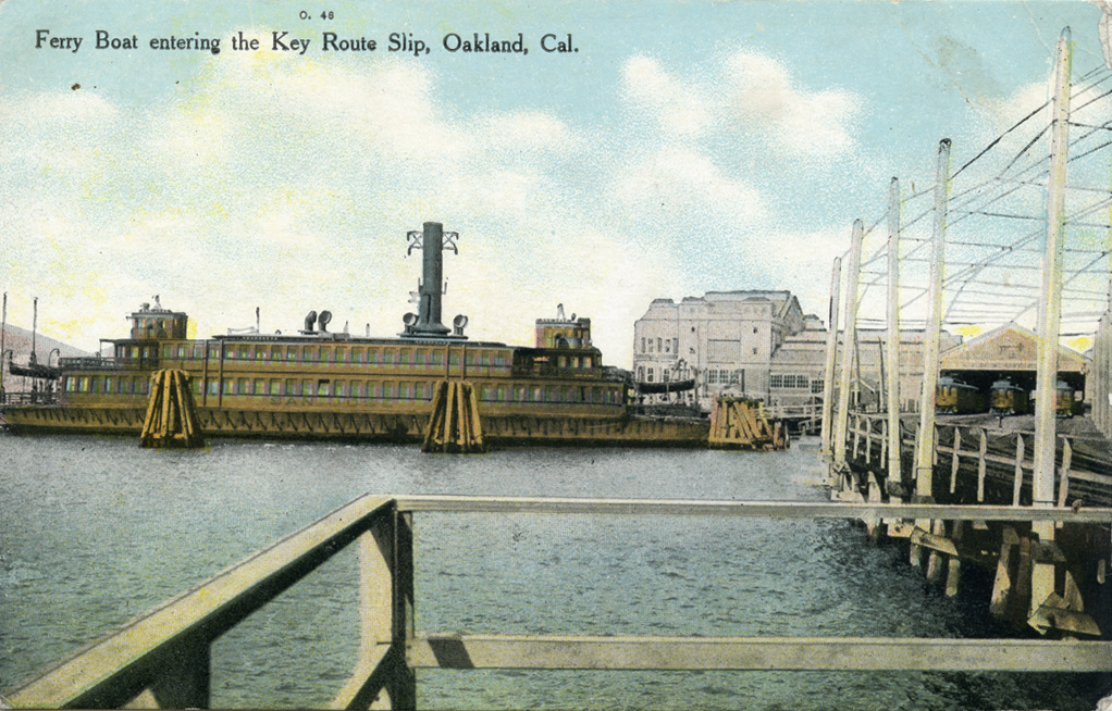 Ferry Boat entering the Key Route Slip Oakland California