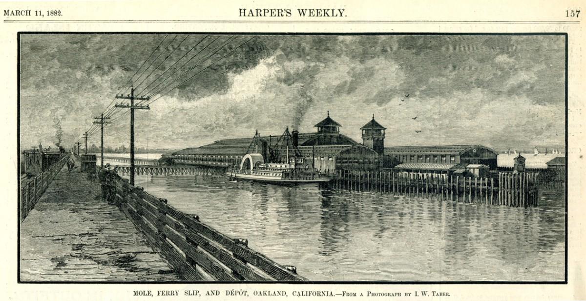 Mole Ferry Slip Depot Oakland CA 1882
