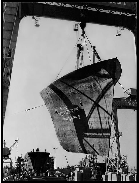 Liberty Ship Bow, under construction Richmond, CA