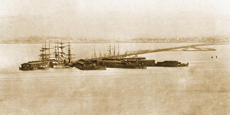 Central Pacific Railroad Oakland Wharf