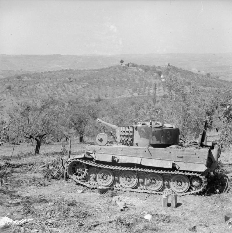 German Tiger tank captured intact