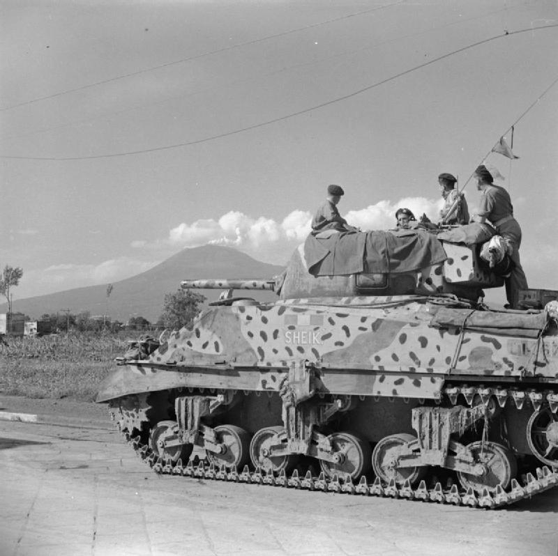 Sherman tank, named 'Sheik' of the Scots Greys.