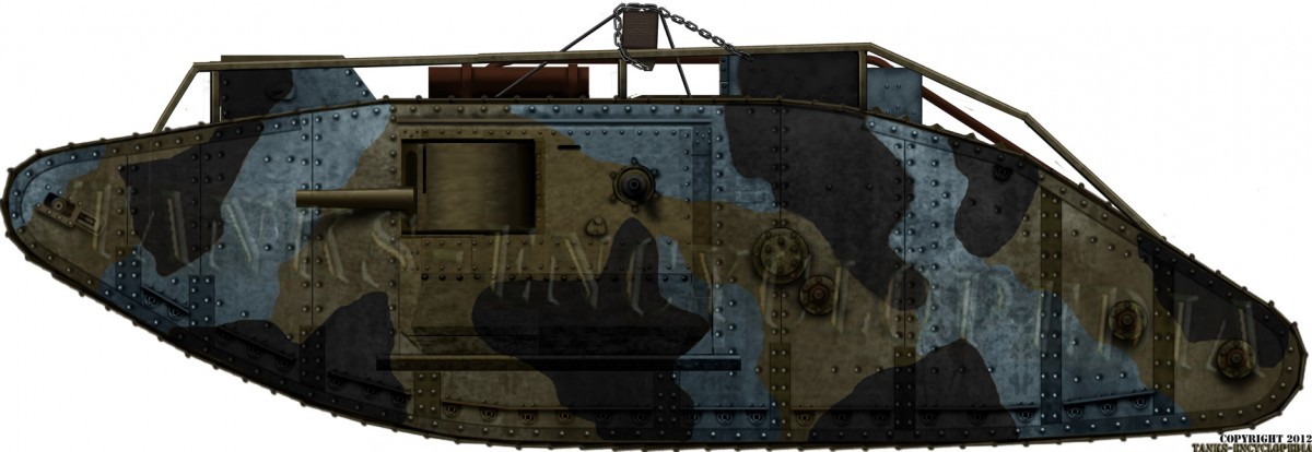 Tank Mk.V Male With the Short barrel six pounders